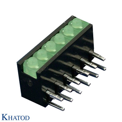 LED Device Circuit Board Indicators 1,8mm diameter LED, Right Angle Assembly, 6 positions