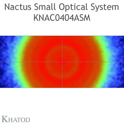Nactus SMALL Optical System with 4 Lenses - Module dimensions: 50,00mm x 50,00mm - Lens pitch: 25,40 mm - IESNA TYPE VS Short - 120° Symmetric