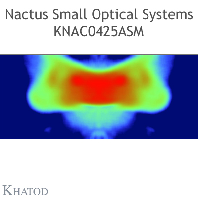 Nactus SMALL Optical System with 4 Lenses - Module dimensions: 50,00mm x 50,00mm - Lens pitch: 25,40 mm - IESNA TYPE II