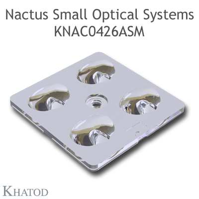 Nactus SMALL Optical System with 4 Lenses - Module dimensions: 50,00mm x 50,00mm - Lens pitch: 25,40 mm - IESNA TYPE III