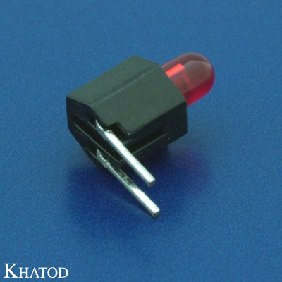 LED Device Circuit Board Indicators 3mm diameter LED, Right Angle Assembly, Row Assembly, 1 position