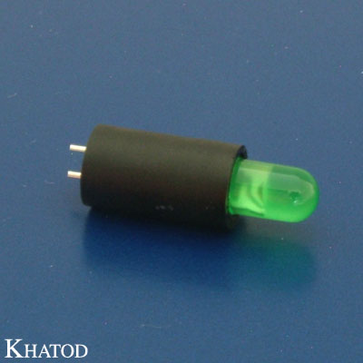 LED Device Circuit Board Indicators 5mm diameter LED, Vertical Assembly, 1 position