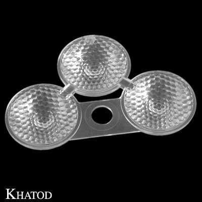 Triple Lenses for Power LEDs; Medium Beam