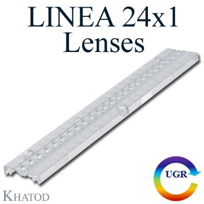 LINEA 24x1 Lenses for Mid Power LEDs