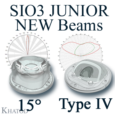 SIO3 JUNIOR Silicone Lenses for COB LEDs: NEW Beams