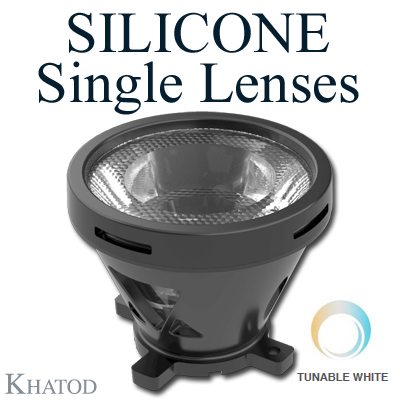 SILICONE Single Lenses for Tunable White