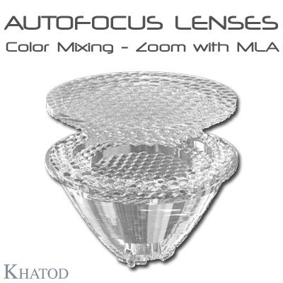 Éclairage LED général: LENTILLES AUTOFOCUS – Mélange de couleurs – Zoom avec MLA