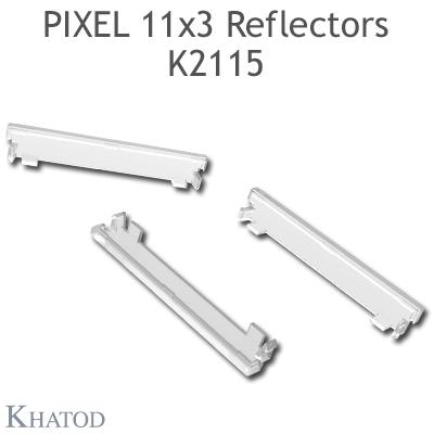 K2115 Plastic end plugs Pixel 11x3 Reflectors, Box-Shape