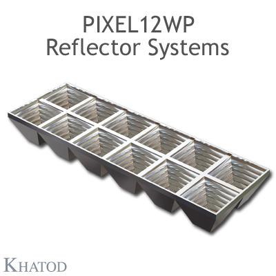 PIXEL12WP Reflector Systems - 60° FWHM - 55.90mm x 167.64mm side - 21.73mm height