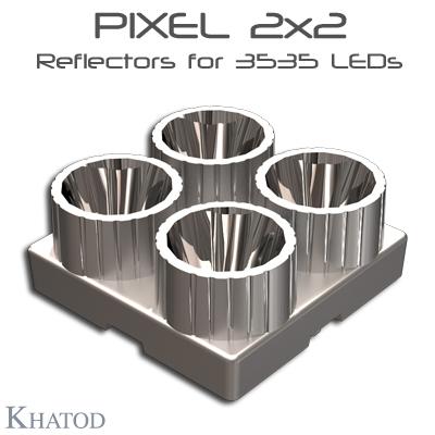Systèmes réflecteurs optiques: Réflecteurs PIXEL 2x2 pour 3535 LED