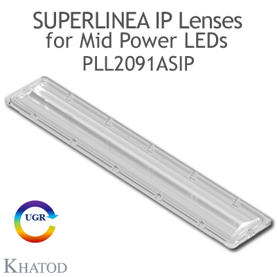 PLL2091ASIP SuperLinea Lenses - Asymmetric Beam - 20° FWHM @ Max Candela 20°