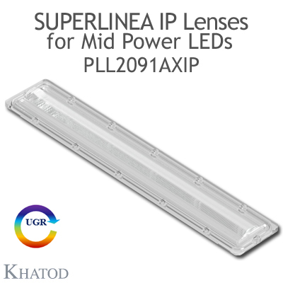 PLL2091AXIP SuperLinea Lenses - Asymmetric Beam - ±20° FWHM @ Max Candela ±20°