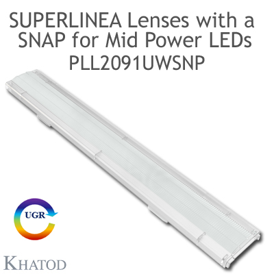 PLL2091UWSNP SuperLinea Lenses with SNAP - Ultra Wide Beam - 90° FWHM