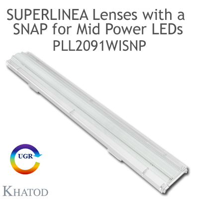 PLL2091WISNP SuperLinea Lenses with a SNAP - Medium Beam - 30° FWHM