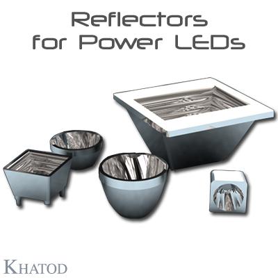 Systèmes réflecteurs optiques: RÉFLECTEURS OPTIQUES ronds, carrés et rectangulaires pour LED énergétiques