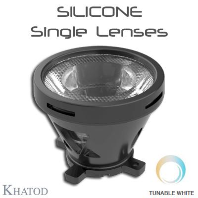 Silicone Lenses: SILICONE Single Lenses for Tunable White