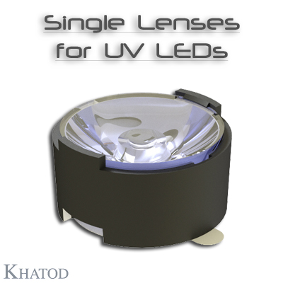Lenses and Reflectors for UV LEDs: Single Lenses with Self-Adhesive tape