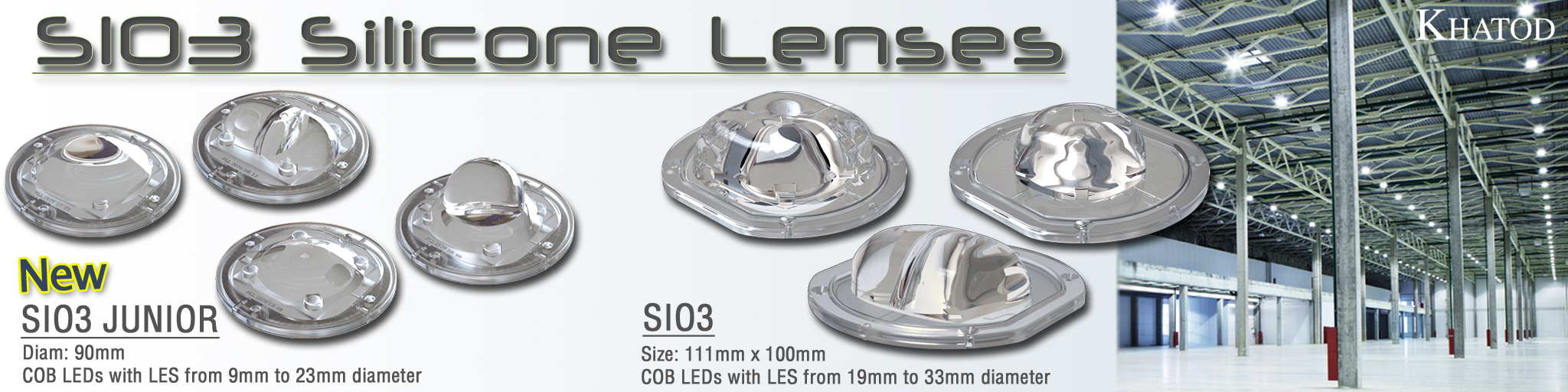 SIO3 Silicone Lenses for COB LEDs