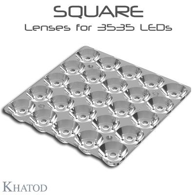 Éclairage LED extensif: Lentilles SQUARE pour LED 3535