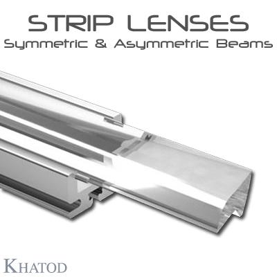 General LED Lighting: STRIP LENSES - Symmetric & Asymmetric Beams