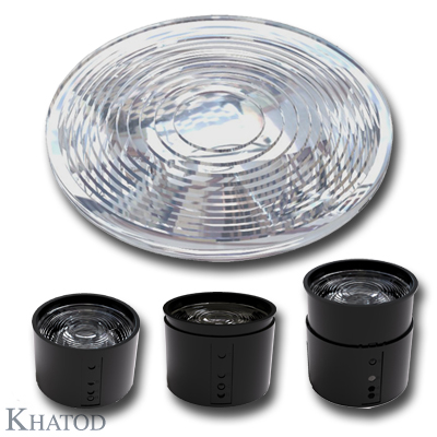Fresnel Lenses for COB LEDs - 81,80mm diameter - 11,24mm height