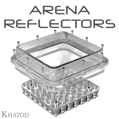 ARENA Reflectors for 3535 package LEDs - 144,98mm x 144,98mm side - from 5,75mm to 35,10mm height