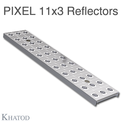 Pixel 11x3 Reflectors for Mid Power LEDs - 285.60mm x 61mm side - 10.25mm height