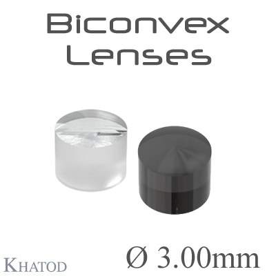 Biconvex Lenses - 3.00mm diameter - 2.50mm height - Material: PC, PC IR, PMMA, PMMA UV