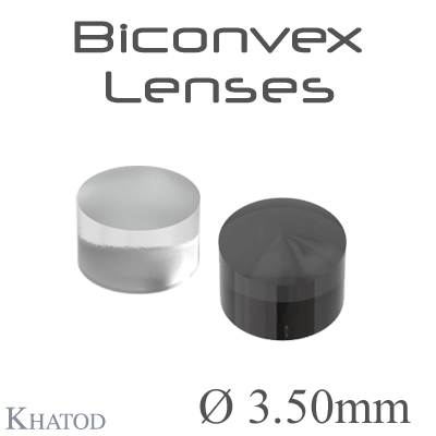 Biconvex Lenses - 3.50mm diameter - 2.50mm height - Material: PC IR, PMMA, PMMA UV