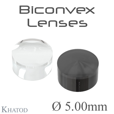 Biconvex Lenses - 5.00mm diameter - 3.00mm height - Material: PC, PC IR