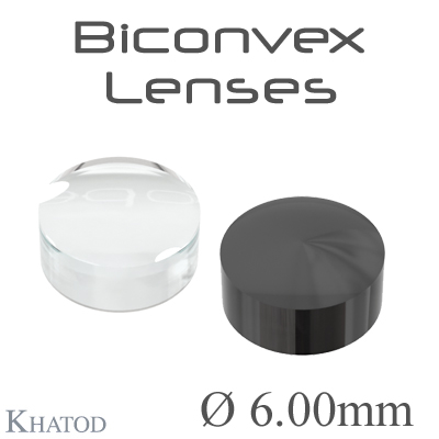 Biconvex Lenses - 6.00mm diameter - 3.00mm height - Material: PC, PC IR, PMMA, PMMA UV