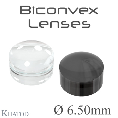 Biconvex Lenses - 6.50mm diameter - 4.52mm height - Material: PC, PC IR, PMMA, PMMA UV