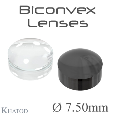 Biconvex Lenses - 7.50mm diameter - 4.50mm height - Material: PC, PC IR, PMMA, PMMA UV
