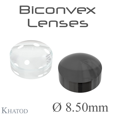 Biconvex Lenses - 8.50mm diameter - 4.50mm height - Material: PC, PC IR, PMMA, PMMA UV