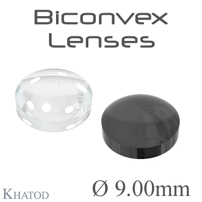Biconvex Lenses - 9.00mm diameter - 4.01mm height - Material: PC, PC IR, PMMA, PMMA UV
