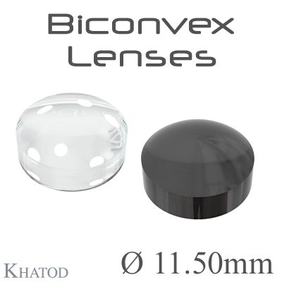 Biconvex Lenses - 11.50mm diameter - 6.04mm height - Material: PC, PC IR, PMMA, PMMA UV