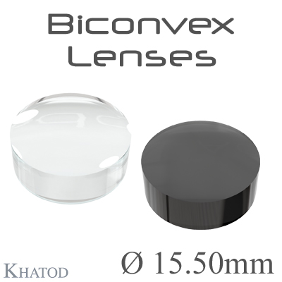 Biconvex Lenses - 15.50mm diameter - 7.00mm height - Material: PC, PC IR