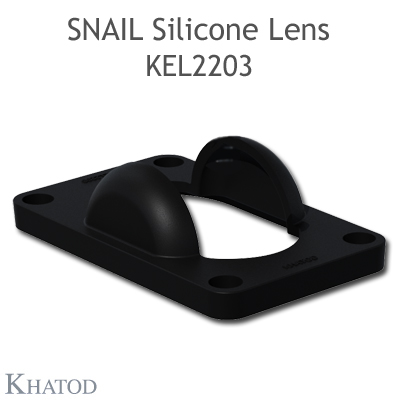 Silicone Lens for windows and doors applications - 40.00mm x 66.00mm side - 27.74mm height
