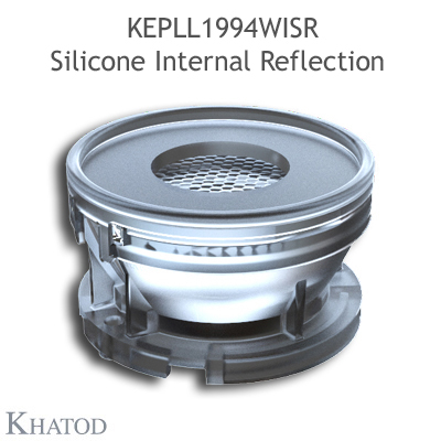 Silicone Internal Reflection Lenses for COB LEDs - 50mm diameter, 29mm height - 40° FWHM Wide Beam