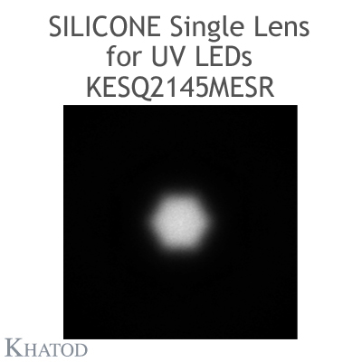 Silicone Single Lenses with Self-Adhesive Tape for UV LEDs with Black Holder - Medium Beam