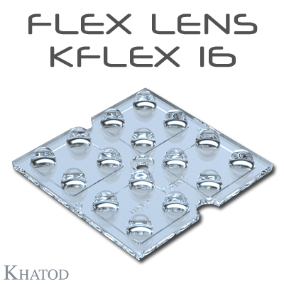 KFLEX Optical Systems with 16 Lenses - 49.50mm x 49.50mm side - from 2.45mm to 6.60mm height