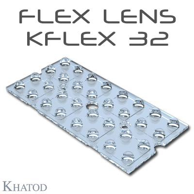 KFLEX Optical Systems with 32 Lenses - 49.50mm x 100.30mm side - from 2.45mm to 6.60mm height