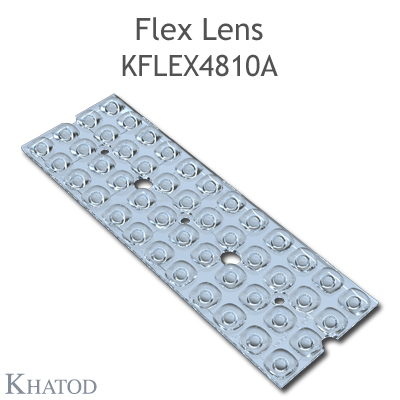 Kflex Optical System with 48 Lenses - Module dimensions: 49.50mm x 151.10mm - 4.75mm height - IESNA Type V