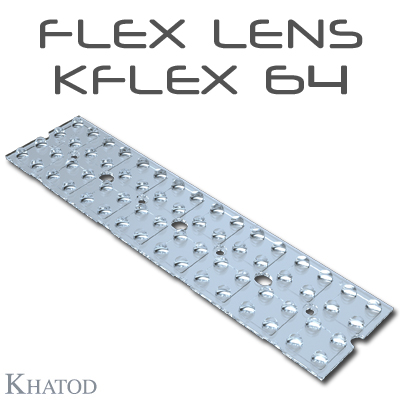 KFLEX Optical Systems with 64 Lenses - 49.50mm x 201.90mm side - from 2.45mm to 6.60mm height