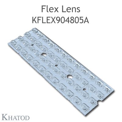 Kflex Optical System with 48 Lenses - Module dimensions: 49.50mm x 151.10mm - 4.60mm height - UNI EN 13201 - Type ME