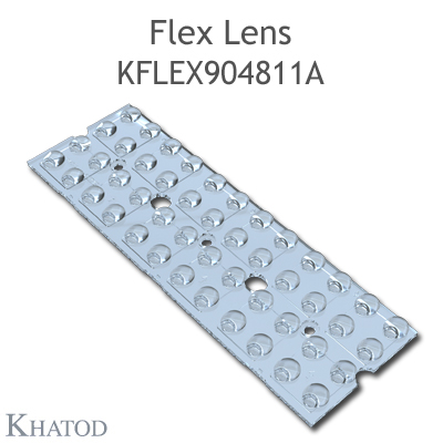 Kflex Optical System with 48 Lenses - Module dimensions: 49.50mm x 151.10mm - 4.96mm height - Asymmetrical for sport facilities