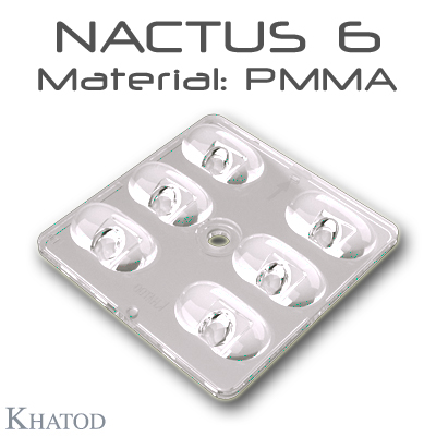 NACTUS 6 Optical Systems in PMMA with 6 Lenses - 49.80mm x 49.80mm side