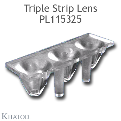 Triple Strip Lenses for Power LEDs; Medium Beam