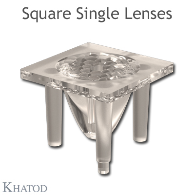 Square Single Lenses - 15,30mm side - 11,50mm height