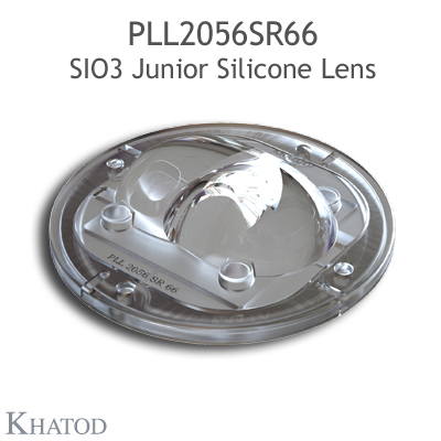 Silicone Lens for COB LEDs - 85.09mm diameter - 21.33mm height - ECE ME3a - IESNA Type II